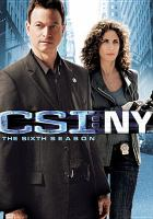 Cover image for CSI: NY. Season 6, Complete [videorecording DVD]