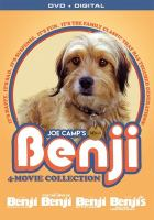 Cover image for Benji 4 movie collection [videorecording DVD] ; Benji ; For the love of Benji ; Benji off the leash ; Benji's very own Christmas story