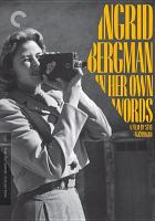 Cover image for Ingrid Bergman [videorecording DVD] : in her own words
