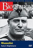 Imagen de portada para Mussolini Italy's nightmare.