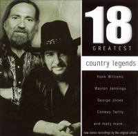 Cover image for 18 greatest country legends [sound recording CD].