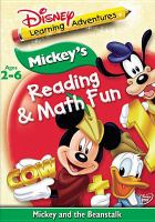 Cover image for Mickey's reading & math fun : Mickey and the beanstalk
