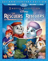 Cover image for The rescuers [videorecording Blu-ray] ; The rescuers down under