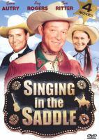 Imagen de portada para Singing in the saddle
