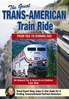 Cover image for The great trans-American train ride