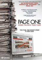 Cover image for Page one inside the New York times