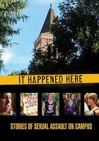 Cover image for It happened here [videorecording DVD] : Stories of sexual assault on campus