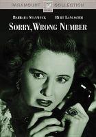 Imagen de portada para Sorry, wrong number [videorecording DVD]