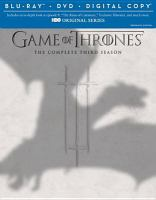 Cover image for Game of thrones. Season 3, Complete [videorecording Blu-ray]