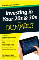 Investing in Your 20s & 30s For Dummies [e-book]