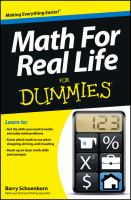 Math for real life for dummies -