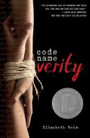 Book Cover: 'Code name Verity' by Elizabeth Wein