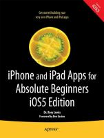 Book Cover: 'iPHONE AND iPAD APPS FOR ABSOLUTE BEGINNERS' by Rory Lewis