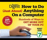 Book Cover: 'HOW TO DO (JUST ABOUT) ANYTHING ON A COMPUTER' by Reader's Digest