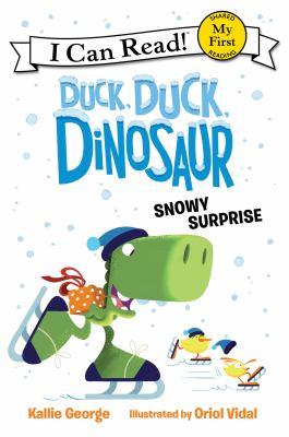Duck, duck, dinosaur. Snowy surprise