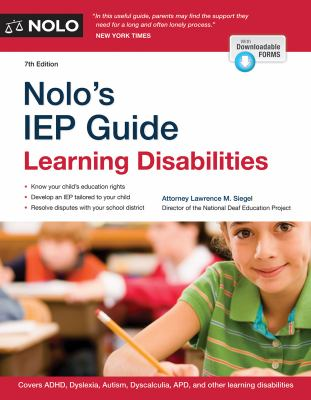 Nolo's IEP guide : learning disabilities
