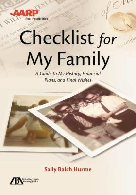 Checklist for my family :