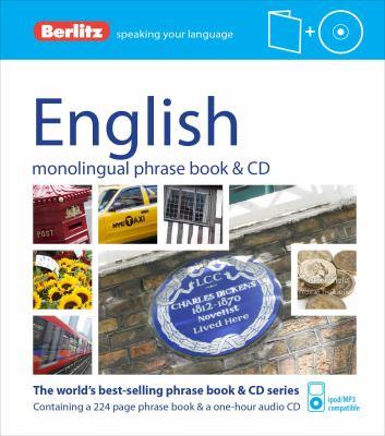 English phrase book & CD.