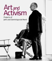 Art and Activism book cover. It shows a man standing in front of a woman seated in a director's chair.