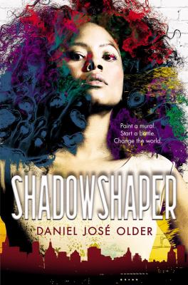 the cover of Shadowshaper by Daniel Jose Older, featuring a young African American woman