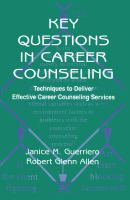 Using Key Questions in Career Counseling