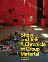 A book cover with a photo of a red room with random objects spread out on the floor. The title text is yellow.