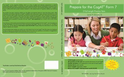 Two full length practice tests for the CogAT - Form 7 : for level 9 (grade 3)