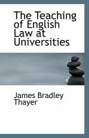 The Teaching of English Law at Universities