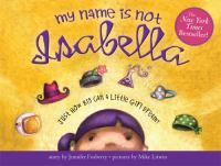 My Name is Not Isabella book cover