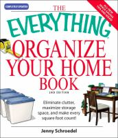 The Everything Organize Your Home Book cover