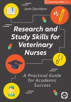 Research and study skills for veterinary nurses /