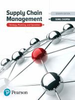 Supply chain management : strategy, planning and operation /