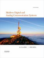 Modern digital and analog communication systems /