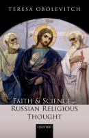 Faith and science in Russian religious thought /