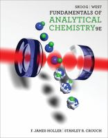 Fundamentals of analytical chemistry /