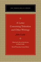 Letter concerning toleration and other writings /