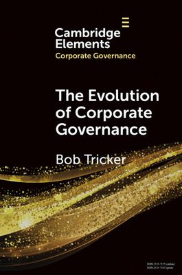 Book cover for Evolution of Corporate Governance [electronic resource] / Tricker