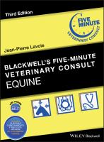 Blackwell's five-minute veterinary consult.
