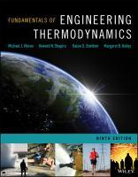 Fundamentals of engineering thermodynamics.