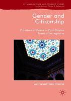 Gender and citizenship : promises of peace in post-Dayton Bosnia-Herzegovina /