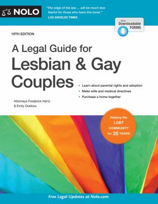 Book cover for A legal guide for lesbian and gay couples