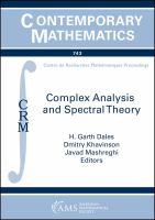 Complex analysis and spectral theory : conference in celebration of Thomas Ransford's 60th birthday : May 21-25, 2018, Laval University, Quebec, Canad