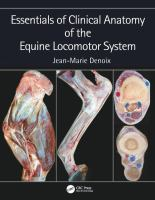 Essentials in clinical anatomy of the equine locomotor system /
