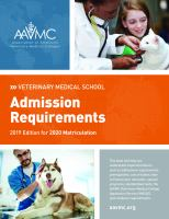 Veterinary medical school admission requirements : 2019 edition for 2020 matriculation /