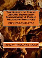 Survey of public library reputation management & public relations practices /
