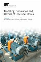 Modeling, simulation and control of electrical drives /