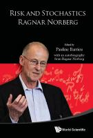 Risk and stochastics : Ragnar Norberg /
