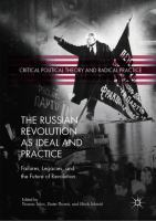 Russian Revolution as ideal and practice : failures, legacies, and the future of revolution /