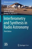 Interferometry and synthesis in radio astronomy /