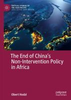 End of China's non-intervention policy in Africa /